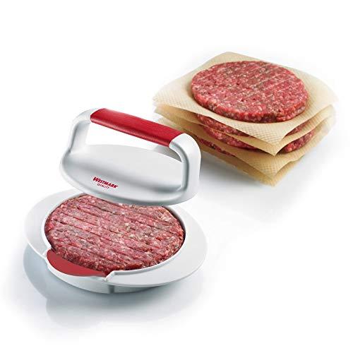 Westmark Hamburgermaker mit Patty-Hebevorrichtung, Hamburger-Presse, Innendurchmesser 11,5 cm,...