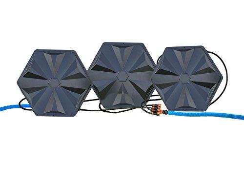 Turbo Sunny Solar Poolheizung 32mm Anschluss 3er Set 365W Heizleistung pro Sonnenkollektor, warmer...