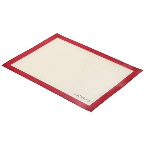 Levivo Silikon Backmatte - Backfolie antihaftbeschichtet - Dauerbackfolie für Backofen ca. 30 x 40...