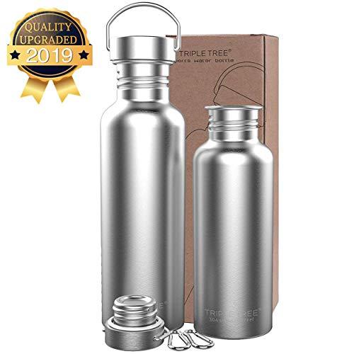 Trinkflasche Edelstahl 500ml 700ml 1l BPA Freie,Vakuumisolierte Metall Wasserflasche für Outdoor,...