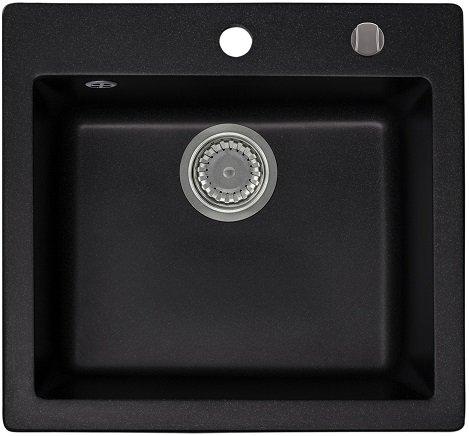 LINDBERGH® Granitspüle'COL11' Schwarz Einbauspüle Küchenspüle Spüle Spülbecken mit...