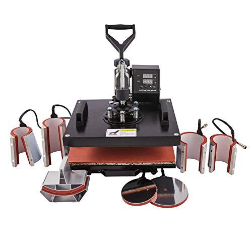 CO-Z 8 IN 1 Transferpresse 38x30cm Tassenpresse Textilpresse Hitzepressemaschine Heißpresse Heat...