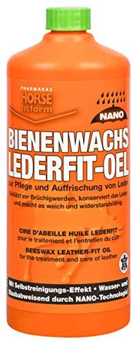 HORSE fitform Bienenwachs Lederpflegecreme, Nano, Lederpflege Leder Pflegecreme 1 L
