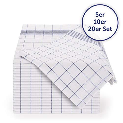 Blumtal 10er Set Premium Geschirrtücher - Hochwertige Geschirrhandtücher, 100% Baumwolle, blau...
