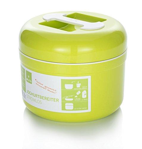 My.Yo - Joghurtbereiter ohne Strom   Farbe Limette   Inkl. 2 Beutel Bio-Fermente