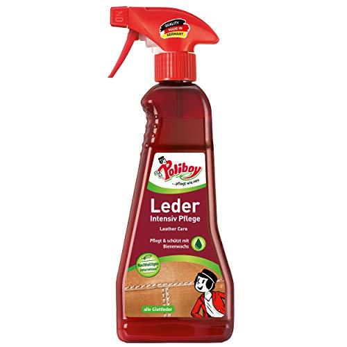 Poliboy - Leder Intensiv Pflege - Sprühmatic Flasche - reinigt, pflegt und schützt alle Glattleder...