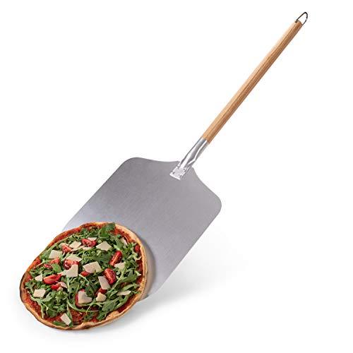 Blumtal Pizzaschaufel mit großer Fläche - 30,5cm x 30,5cm, Pizzaschieber Aluminium, Griff aus Holz...