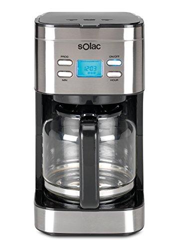 Solac Stillo CF4028 Programmierbare Kaffeemaschine mit Glaskanne 1,5 l 12 Tassen