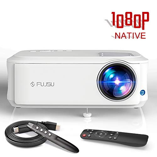Beamer Full HD 1920x1080 Pixel, LCD Video Projektor unterstützt mit HDMI / VGA / Y.Pb.Pr/ AV / USB...