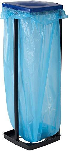 axentia Müllsackständer mit Deckel, Ständer für Müllsäcke bis 120 Liter und gelbe Säcke,...