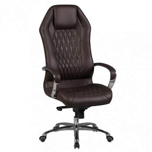 Amstyle Bürostuhl Monterey Echt-Leder Schreibtischstuhl XXL Polsterung Chefsessel hohe Rückenlehne...
