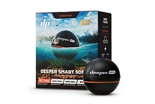 Deeper PRO PLUS smart Fischfinder – kabelloser W-LAN Fischfinder mit eingebautem GPS für Ufer...