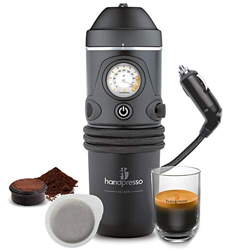 Handpresso - Handpresso Auto 48261 Espresso-Kaffeemaschine, Tragbare Kaffeemaschine für Auto 12V...