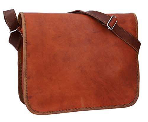 Gusti Umhängetasche Damen Leder Taylor M für 11 Zoll Geräte Handtasche Tasche Ledertasche Braun