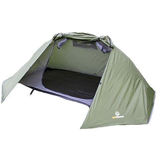 outdoorer Trekkingzelt für 1-2 Personen Trek It Easy 2, leichtes Schnellaufbau-Zelt, kleines...
