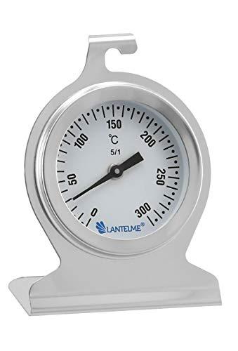 Lantelme Backofenthermometer 300 Grad Edelstahl Rostfrei zum Aufhängen und hinstellen Backofen...