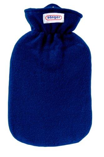 Wärmflasche mit Fleecebezug, 2,0 Liter (blau)