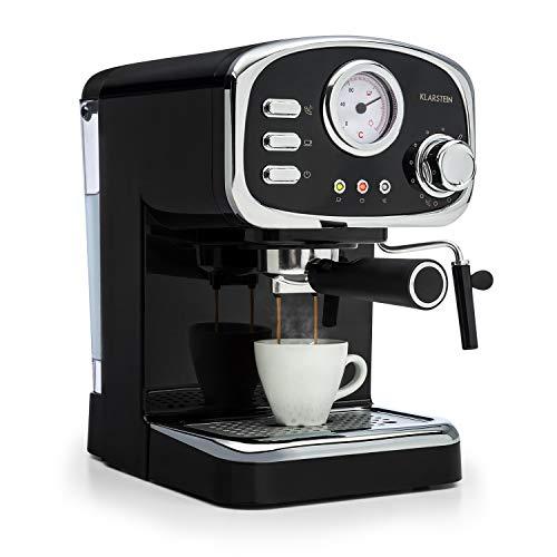 Klarstein Espressionata Gusto Espressomaschine, 1100 Watt, 15 Bar Druck, Volumen Wassertank: 1...