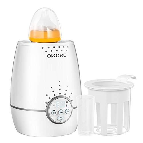 OMORC 3 in 1 Baby Flaschenwärmer für schnelles und gleichmäßiges Erwärmen von Milch &...