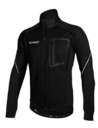 iCREAT Herren Jacke Air Jacket Winddichte Lauf- Fahrradjacke MTB Mountainbike Jacket Visible...
