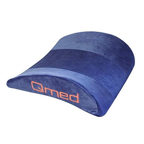 Qmed Lumbar Pillow Lordose-Kissen 40 x 33 x 12 cm aus Memory Schaum (55 kg/m3) | Stützendes...