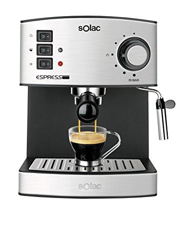 Solac CE4480Espresso–Kaffeemaschine (Kapazität, 19Bar, 1,25Liter, Milchaufschäumer)