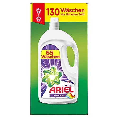 Ariel Waschmittel Flüssig, Flüssigwaschmittel, Color Waschmittel, 130 Waschladungen (2 x 3.575 L)...