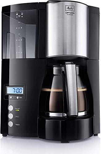 Melitta Optima Timer 100801 Filter-Kaffeemaschine mit Timer Funktion, schwarz
