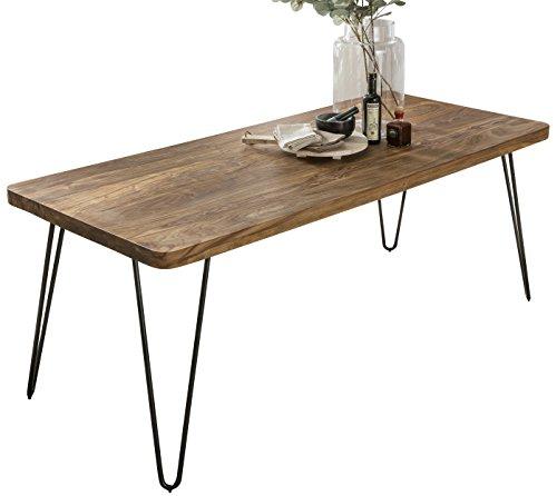 FineBuy Massiver Esstisch Harlem 180 x 80 cm Sheesham Massiv Holz | Esszimmertisch Massivholz mit...