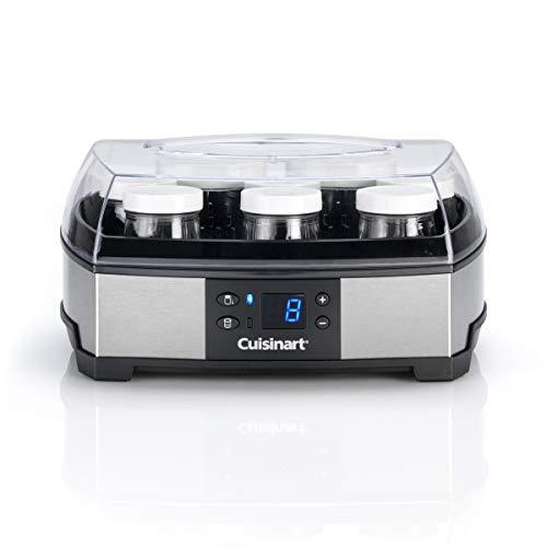 Cuisinart 2 in 1 Joghurt und Frischkäse Zubereiter mit 2 Temperaturstufen, inkl. 6 Glasbehältern...