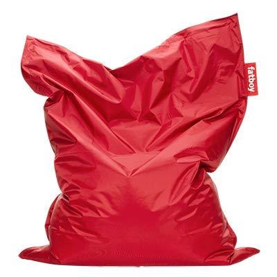 Fatboy® Original rot Nylon-Sitzsack| Klassischer Indoor Beanbag, Sitzkissen | 180 x 140 cm