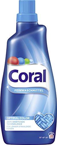 Coral Feinwaschmittel Optimal Color flüssig, 20Waschladungen