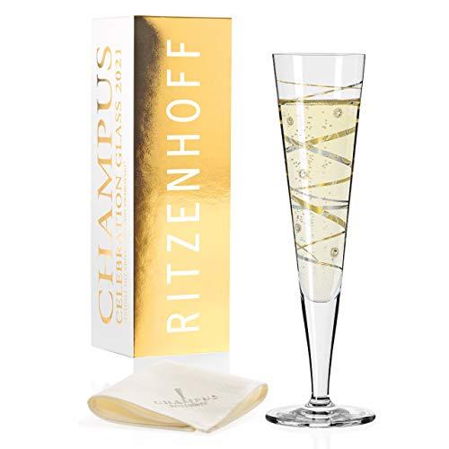 Ritzenhoff 1079011 Champus Champagnerglas, Glas, 200 milliliters
