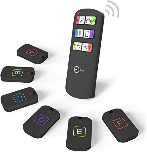 Esky Schlüsselfinder, drahtlose Schlüsselsucher mit 6 Empfängern, RF Objektfinder, Artikel...