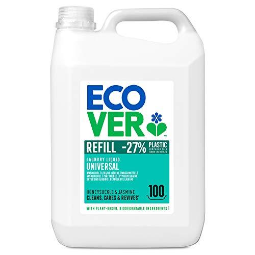 Ecover Waschmittel Universal Hibiskus & Jasmin (5 L/100 Waschladungen), Flüssigwaschmittel mit...