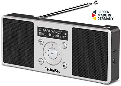 TechniSat Digitradio 1 S - tragbares Stereo DAB Radio mit Akku (DAB+, UKW, FM, Lautsprecher,...