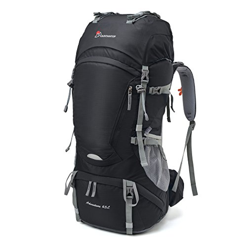 MOUNTAINTOP 65L Trekkingrucksack Wanderrucksäcke für Camping, Wandern, Bergsteigen, Reisen mit...