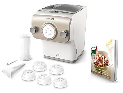 Philips Pastamaker HR2381/05 (vollautomatische Nudelmaschine, mit Wiegefunktion und 6 Formscheiben,...