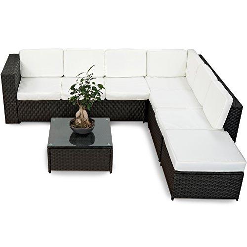 20tlg. Deluxe Lounge Garnitur Set Gruppe Polyrattan Sitzgruppe Gartenmöbel Loungemöbel -...