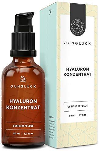 Junglück Hyaluron Serum I 50 ml hochdosiertes Hyaluronsäure Konzentrat I Anti-Aging...