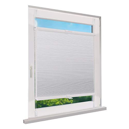 Fensterdecor Klemmfix Waben-Plissee, Doppel-Plissee zum Sichtschutz mit Spannfeder,...