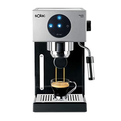 Solac CE4552 Squissita Touch Espressomaschine, 1,5 l, 1000 W, Siebträger für 1 oder 2 Kaffee,...