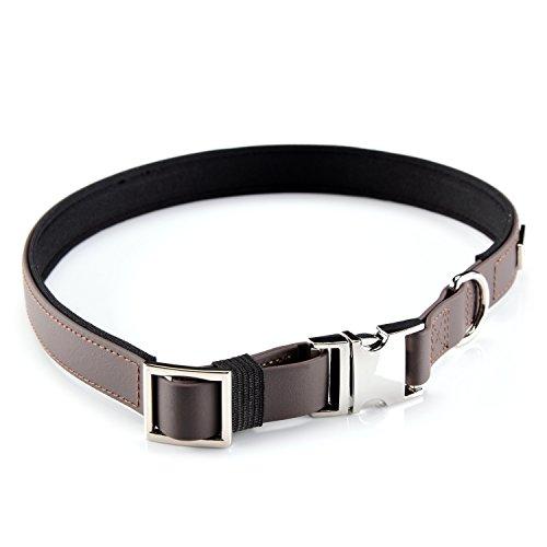 PetTec Hundehalsband aus Trioflex™, Slim Edition, schmales Design, Polsterung, Wasserabweisend,...
