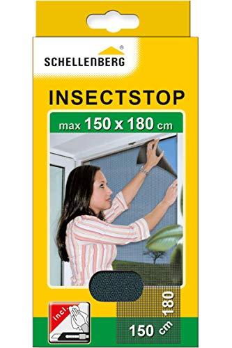 Schellenberg 20409 Fliegengitter Insektenschutz für große Fenster, Mückenschutz inkl....