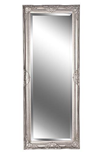 B.U.S. Wohnstyle Spiegel Wandspiegel Louisa Barock antik Silber 150 x 60 cm