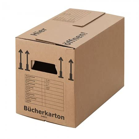 BB-Verpackungen 30 x Bücherkarton Profi 500 x 300 x 350 mm (stabil 2-wellig, doppelter Boden,...
