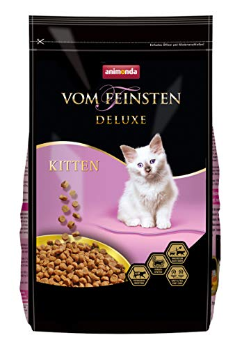animonda Vom Feinsten Deluxe Kitten Katzenfutter, Trockenfutter für Katzen im Wachstum, Geflügel,...