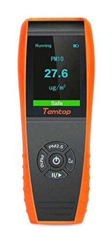 Temtop Luft Qualitäts Laser Paticle Detektor Berufsmeter genaue Prüfung für PM2.5 / PM10 TFT...