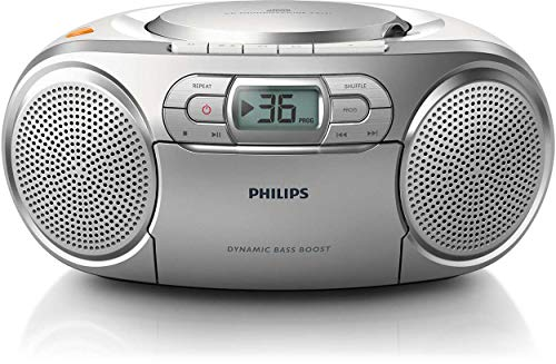 Philips AZ127/12 CD-Soundmaschine, CD Player Tragbar (Radio UKW, CD, Kassettendeck, Dynamic Bass...