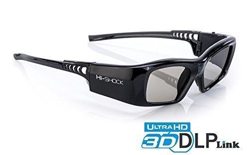 "Hi-SHOCK® DLP Pro 7G ""Black Diamond"" | DLP Link 3D Brille mit höchster Akkukapazität &..."